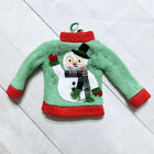 Christmas Sweater Ornament Holiday Winter Ski Santa Ugly