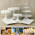 Cake Stand Wedding Party Cupcake Holder Display Plate Metal Tower w Crystal