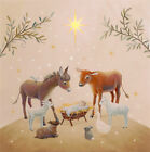 14 RAZ IMPORTS WHIMSICAL WOODLANDSANIMAL MANGER NATIVITY LIGHTED CANVASPRINT