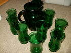 Pitcher with Ice Lip Anchor Hocking Forest Green Glasses - Glasses  5 7/8