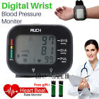 Automatic One Touch Wrist Blood Pressure Monitor BP Cuff Heart Rate Tester FDA