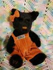 Boyds Bear Bearwear Archive Series Jointed Plush Black Cat Orange Bow GREEN EYES
