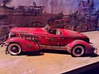 118 Scale Diecast Custom Weathered  Rusted Red1935 Auburn 851 Speedster