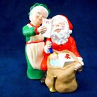 Hallmark Ornament Mr and Mrs Claus #6 1991 Checking His List Used