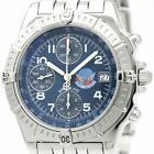 BREITLING Chronomat Blue Impulse Limited Steel Automatic Watch A13353 Used Mint