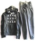 Aeropostale Womens Two Pcs Set Full Zip up Hoodie And A Cinch Jogger Sweatpants