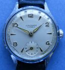 MINT dial JUNGHANS Cal 97 15J CP/SS mens watch -1940/50's + new leather strap