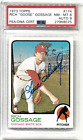 1973 Topps Rich Goose Gossage RC Rookie #174 HOF PSA 8 AUTO 9 - Free Shipping