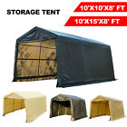10x10x8 10x15x8FT Storage Shed Logic Tent Shelter Car Garage Steel Carport