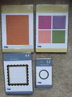 QuicKutz 7 Journaling Blocks Square Circle Oval FRAMES Die Cuts LOT NEW