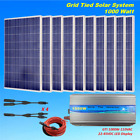 1KW 1000W Grid Tie Solar System 10100W Solar Panel with 1000W Inverter 24V Home