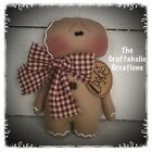* CUSTOM primitive raggedy doll GINGERBREAD Christmas ornie GINGER ornament BOY