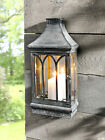 Wall Mount Mirror Candle Lantern Clear Glass
