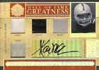 2006 Playoff National Treasure HOF Great Material Auto Quad MA Marcus Allen 5 10