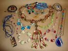 Vtg Venetian Art Glass LOT Necklace Bracelet Millefiori Murano  Other 18KGF 925