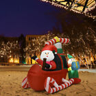 6 Christmas Decoration Inflatable Santa Claus Flying Airplane Lighted Outdoor