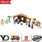 19 Pieces Christmas Nativity Playset for Children Storybook Included XMAS Gift