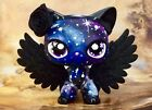 Littlest Pet Shop LPS CUSTOM Cute Short Hair Black GALAXY KITTY Cat Nice