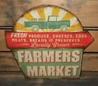 Embossed Farmers Market SIGN*Primitive/French Country Kitchen/Farmhouse Decor