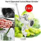 Juicer Meat Grinder Fruit Vegetable Wheatgrass Juice Extractor Hand Operated US