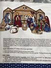 Christmas Nativity Scene Cranston Print Works Panel 35 x 44 Cotton Fabric