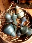 Wonderful primitive early wooden Christmas ornaments foryour bowls/tree set of 6