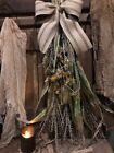 Primitive Fall Dried Sunflowers Corn Wreath Door Keep Early Look Cabin #3