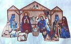 Cranston Keepsakes Christmas Nativity Creche Manger Fabric Panel Cut Sew