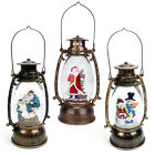 Christmas Snow Globe LED Lighted Lantern Battery Operated Swirling Glitter Water