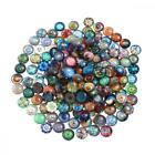 ULTNICE Glass Cabochons Mosaic Printed Dome Tiles for Crafts 200pcs