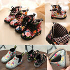 2018 Chic Toddler Girls Boys Crib Shoes Prewalker Soft Sole Sneakers Ankle Boots