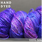 Best of HAND DYED Silk  Worsted Weight  1 Hank 225 Meters DG 1