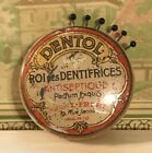 Antique French Advertising Pin Keep / Pin Cushion ~ Dentol Roi Des Dentifrices