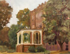 Original Signed Oil Painting Urban Building Landscape Plein Air KEG