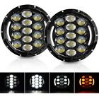 7 Round LED Headlights for Jeep Wrangler JK TJ CJ LJ 1997 2018 with Hi Lo Beam