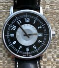Montblanc Watch Summit 7045 RARE Black/Silver Face  Black Leather Band  Men's