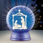 Christmas Religious Inspirational Lighted Nativity Scene Globe 7H