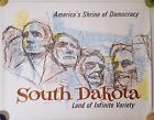 SOUTH DAKOTA VINTAGE TRAVEL POSTER 1960s MID CENTURY ART MOUNT RUSHMORE 22x28