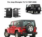 2x Steel Rear Tail Light Lamp Trim Guard Cover For Jeep Wrangler TJ YJ 1987-2006