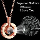 I LOVE YOU in 100 languages Pendant Necklace Romantic Day Valentines Day gifts