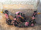 3 Floral fabric geese bowl fillers Cottage Garden Handmade Country Home Decor