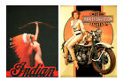 1:10 scale model vintage motorcycle posters signs