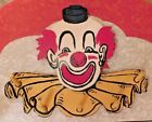 VINTAGE 1950's- 70 SOLID WOOD SCARY CLOWN HAT CLOTHIES COAT TOWEL RACK OR HOLDER
