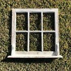 Wooden Antique Style Church Window Frame Primitive Wood Gothic Creme