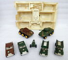 Vintage TootsieToy Metal Diecast Army Set Lot Armored Car Truck Jeep Tank Cannon