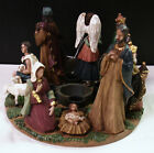 Vintage Advent Wreath Holy Nativity Candle Holder Collections Etc 4 Piece