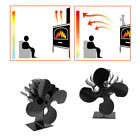 Heat Powered 4 Blade Stove Fan  Eco Fireplace Efficiency NEW US lot