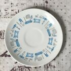 4 Anchor hocking Blue Heaven 6 inch Bread Plates atomic mid century modern