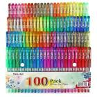 Glitter Gel Pen 100 Neon Glitter Gel Pens Art Marker for Adult 100 Colors