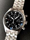 IWC Pilots Chronograph Automatic 42mm Steel Bracelet Watch IW371704 3717-04